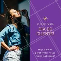 Obrigada, cliente! Neste dia nós temos uma surpresa muito especial para você!  #diadocliente #cabelo #ahazou #cliente