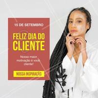 Queremos agradecer a você, cliente! Afinal, você é o motivo do nosso crescimento, a razão de tudo o que a gente faz!  #diadocliente #cliente #ahazou #estética