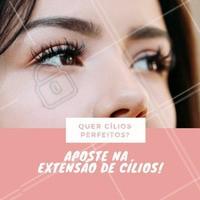 Quer cílios perfeitos, longos e volumosos? A melhor opção para você é a extensão de cílios! #cilios #eyelashes #ahazou #beauty