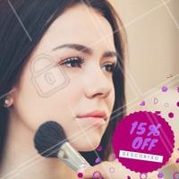 Uma maquiagem incrível é o que você precisa, aproveito o desconto!    Aproveite! Venha conhecer nossos serviços, tratamentos especiais para você! <3   #desconto #15porcento #ahazou #beauty #beleza