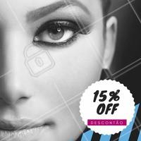 Desconto especial para você que deseja sobrancelhas incríveis!    Aproveite! Venha conhecer nossos serviços, tratamentos especiais para você! <3   #desconto #15porcento #ahazou #beauty #beleza
