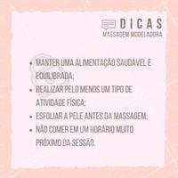 Siga essas dicas para ter bons resultados com a massagem modeladora! #ahazou #massagem #beauty #beleza