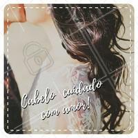 Ah, o amor... #cabelo #hair #cuidados #dica #instabeauty #cabelobonito #saúdecapilar