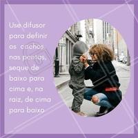 Para cachos definidos o difusor pode ser seu queridinho! #cabelo #instabeauty #hair #ahazou #cabelobonito #beauty #beleza