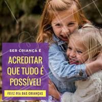 Feliz dia das crianças para você que continua acreditando em seus sonhos! #diadascrianças #amo #ahazou #felicidade #crianças #sonhos #infância