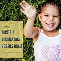 Neste dia dia das crianças, retribua todos os sorrisos que as crianças da sua vida já colocaram em seus rosto! Adoce o dia delas você também! #diadascrianças #amo #ahazou #felicidade #crianças #adoce #infância