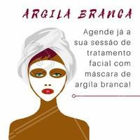 Recomendado para peles sensíveis e desidratadas. Benefícios: clarear, absorver a oleosidade, ação suavizante, e cicatrizante.  Agende já a sua sessão de tratamento facial com máscara de argila branca!   #Argila #EstéticaFacial #Estética #Tratamento #TratamentoFacial #MáscaraFacial #mascarasfaciais