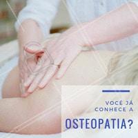A osteopatia é uma terapia manual utilizada no tratamento da dor.  É aplicada através de manipulação das articulações, utilizando técnicas de alta velocidade e baixa amplitude. É utilizada em pessoas de várias faixas etárias, desde crianças, esportistas em geral, até a terceira idade! #osteopatia #fisioterapia #ahazou