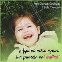 No dia das crianças traga sua filha para brilhar como uma princesa!  #diadascrianças #diadacriança #ahazou #felizdiadascrianças