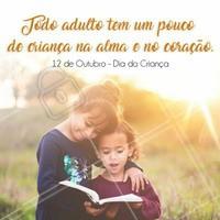 No amor de uma criança tem tanta canção pra nascer, carinho e confiança, vontade e razão de viver!  Feliz dia das crianças!  #diadacriança #diadascrianças #ahazou