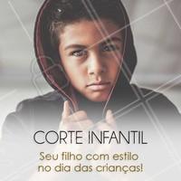 Agende o horário para o seu filho nesse dia das crianças!  #ahazou #diadacriança #diadascrianças