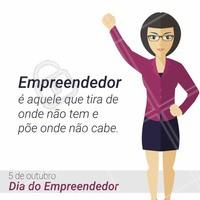 Hoje é o #DiaDoEmpreendedor. Parabéns à todos que de alguma forma empreendem. Um empreendedor não é somente aquele que possui uma empresa e sim todos que investem seu tempo e colocam esforços naquilo que acreditam. #Ahazou #Beleza #Empreendedorismo