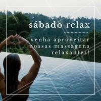 Quem aí tira o sábado pra relaxar? 😴 Então aproveita nossas massagens relaxantes pra você tirar todo o stress da semana e começar a próxima semana muito bem! #massagem #sabado #massagemrelaxante #ahazou