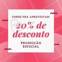 PROMOÇÃO especial pra vocês! 20% de desconto em (inserir tratamentos/serviços) ✨ #promocao #desconto #amodesconto #ahazou