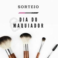 Hoje, 13 de outubro, é dia do maquiador! 😍 Para comemorar esse dia tão especial, vamos fazer o sorteio de uma maquiagem! É só compartilhar essa foto no seu perfil e já está concorrendo 😉 #diadomaquiador #sorteio #maquiadoraporamor #ahazou