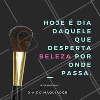 Ser maquiador é encontrar a beleza de todas as pessoas e realçá-la ao máximo! Parabéns à todos os profissionais de maquiagem, que encantam e embelezam por aí 😍  #diadomaquiador #maquiagemx #ahazou #amomaquiagem