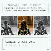 Que nesse dia e sempre Nossa Senhora Aparecida nos cubra com o teu manto sagrado!  #padroeiradobrasil #nossasenhoraaparecida #12deoutubro #ahazou