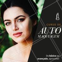 Curso de automaquiagem para você que está começando, para você que gostaria de aprimorar suas técnicas!  Aproveite está oportunidade!  #automake #makeup #automaquiagem #maquiagem #maquiagens #ahazou #cursomaquiagem