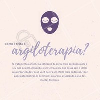 Converse com nossos profissionais, saiba mais sobre esse tratamento e qual é a indicação para o seu caso. Ligue agora: (inserir o TELEFONE) #amo #ahazou #argiloterapia #argila #agende #tratamento #pele #cuidados