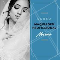 Você já é maquiador profissional e quer se especializar em noivas? Aproveite meu curso para especialização em noivas! 👰💗 #cursomaquiagem #maquiagemprofissional #ahazou #amomaquiagem #maquiador #maquiadorprofissional