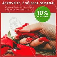 Vocês queriam #promoção? Então não percam essa semana, deixem as unhas lindas com 10% de desconto 💅 #desconto #unhas #linda #ahazou #amo #promo #vem #promounhas