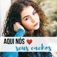 Pode confiar que nosso salão vai cuidar dos seus cachos com muito amor 💇 #cacheada #cachos #curlyhair #cachinhos #ahazou #cachosperfeitos