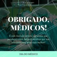 Hoje é dia de dar parabéns para quem sempre promove a vida! Feliz dia do médico!  #diadomédico #médico #médicos #ahazou