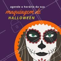 Halloween chegando e você, já marcou o horário da sua maquiagem? 🎃  #maquiagemhalloween #maquiagemartistica #halloween #ahazou #makeuphalloween