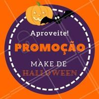 Tem uma festa pra ir esse Halloween e quer chegar arrasando com sua make artística? 😍 Aproveita que tem PROMOÇÃO em todas as makes de Halloween! 🎃 #maquiagemhalloween #maquiagemartistica #halloween #ahazou #makeuphalloween