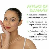Olha só os benefícios do peeling de diamante! Tá esperando o que? Agende já seu horário! ☎️ #peelingdediamante #esteticafacial #esteticacomamor #ahazou #peeling
