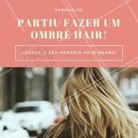 Aqui no salão nós temos a técnica ideial para você! O ombré hair é uma técnica muito usada por quem tem cabelo escuro, perfeito para quem busca uma aparência mais iluminada!   #ombrehair #ombre #hair #cabelo #loiros #ahazou