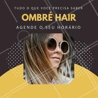 A diferença do ombré para outras técnicas é a questão da sombra, nesta ela faz o efeito degradê.  Agende o seu horário e sinta o cabelo dos seus sonhos!   #coloração #ahazou #ombrehair #ombre #hair #beauty #cabelos