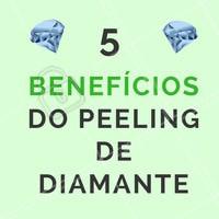 Ainda não agendou o horário do seu peeling de diamante? 💎 Então confere os 5 benefícios dessa maravilha: 1 - Remove camada de células mortas. 2 - Clareia a pele sem escamação. 3 - Regula a oleosidade. 4  - Reduz acne. 5 - Recupera a maciez e uniformidade da pele.   #peelingdediamante #esteticafacial #esteticacomamor #ahazou #peeling