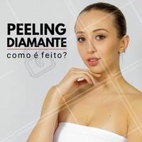 Para realizar o peeling de diamante, não é necessária anestesia. Primeiro é feito a higienização da pele, em seguida é aplicada a ponteira de diamante no local do tratamento.  O profissional realiza movimentos em linha ou círculos sobre a pele.  #peelingdediamante #esteticafacial #esteticacomamor #ahazou #peeling