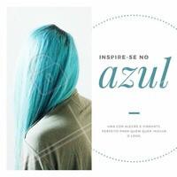 Imagina só, você divando por aí com as madeixas azuis! Não vai ter para ninguém! Se inspire nesse cabelão azul incrível e agende seu horário 💙 #azul #ahazou #amo #cabelo #cabelocolorido #cabeloazul #inspiração #colorido #cores #tintura