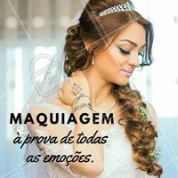Pode confiar. Com a gente, sua maquiagem é totalmente à prova de emoções! 😍 Venha ficar linda para o seu grande dia 👰 #noivas #makenoiva #maquiagemnoiva #noivalinda #ahazou #noivaprincesa