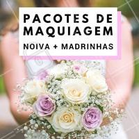 Aproveite! Temos pacotes com preços especiais, para você e suas madrinhas arrasarem no grande dia! 👰💗 #noivas #makenoiva #maquiagemnoiva #noivalinda #ahazou #noivaprincesa