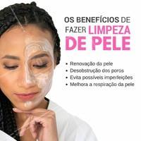 Uma pele bem cuidada é pele que faz limpeza facial. Venha agendar agora o seu horário para Limpeza de Pele! #EstéticaFacial #TratamentoFacial #Ahazou #Beleza #LimpezaDePele #Estetica #Esteticista #Autoestima