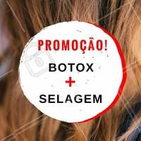 Já conhece esses dois tratamentos incríveis? Corre pra aproveitar nossa promoção de botox + selagem e arrasar com seu novo cabelo! 💗 #promocao #desconto #ahazou #beleza