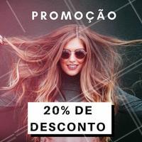 APROVEITE! Estamos com 20% de desconto em (inserir tratamentos/serviços) 💇 Venha ficar mais linda ainda! #promocao #desconto #ahazou #beleza