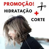 Nós acreditamos que você merece ter um cabelo perfeito! 😍 Aproveite nossa promoção de corte + hidratação e arrase! #promocao #desconto #ahazou #beleza