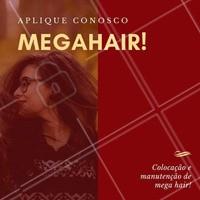 Você sonha com cabelos longos? Nós temos a solução para você, cliente!  Megahair! Aplique conosco, aqui você adquire o cabelo dos sonhos e fica poderosa!   Agende o seu horário!   #megahair #mega #hair #ahazou #cabelo #cabelolongo