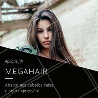 Este é um serviço que só deve ser feito em um salão de beleza, e geralmente as pontas são aparadas para igualar ao comprimento dos fios.   Agende o seu horário!    #megahair #mega #hair #ahazou #cabelo #cabelolongo