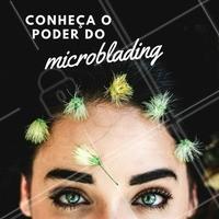 """Você já conhece a técnica Microblading? Perfeita para micropigmentar a sobrancelha com fios hiper realistas e não ficar um efeito """"fake"""" 😉 #microblading #micropigmentacao #sobrancelha #ahazou #sobrancelhaslindas"""
