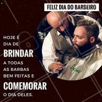 Não tem como deixar de comemorar essa data importante! Todos os barbudos de plantão, abram as cervejas e façam um brinde em homenagem ao grande homem que deixa a sua barba impecável 🍻 #diadobarbeiro #amo #ahazou #barba #barbearia #barbudo