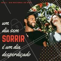 No Dia Nacional do Riso espalhar risada é essencial, o que você fez hoje para abrir um sorriso no rosto de alguém? #diadoriso #amo #ahazou #risada #alegria #felicidade #sorrir