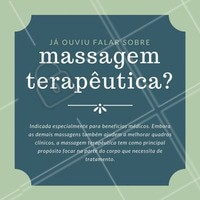 Se você está em busca de melhorar sua saúde e ainda não conhece esse tratamento que beneficia física e psicologicamente, você está perdendo! Converse com um de nossos profissionais e agende seu horário ☺️💆💆♂️ #massagemterapeutica #massagem #tratamento #cuidados #saúde #massoterapeuta