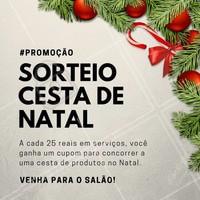 A cada 25 reais em serviços, você ganha 1 cupom para concorrer a uma linda cesta de natal. Participe, agende o seu horário! #SalaoDeBeleza #Ahazou #Beleza #Cabelos #Natal #CestaDeNatal #CorteDeCabelo #Cabelo #Instabeauty #Autoestima #Diva