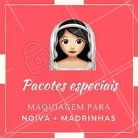 Vai casar? 👰 Aproveite nossos pacotes com promoções especiais para noivas e madrinhas, pra todo mundo arrasar no casamento! #casamento #Noiva2018 #noivas #ahazou #maquiagemnoiva