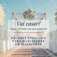 Quando o grande dia chegar, é importante relaxar e curtir o dia com as amigas e parentes queridas! Venha se arrumar no nosso salão e sinta-se especial! 👰💗 #noiva2018 #noivinha #casamento #ahazou #madrinhas
